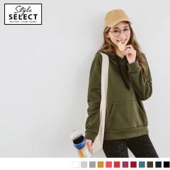 1020新品 台灣製造~多色素面抽繩連帽上衣
