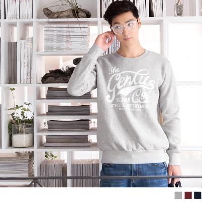 1005新品 設計感英文燙印磨毛圓領上衣