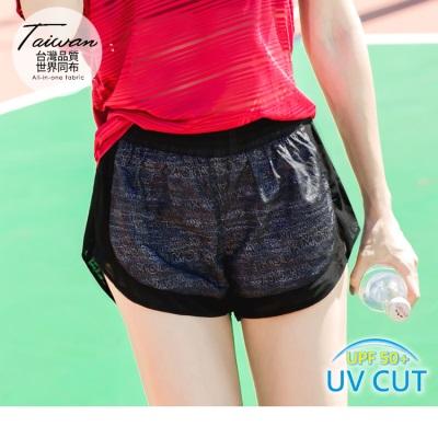 0921新品 數碼印花字母拼接抗UV運動短褲