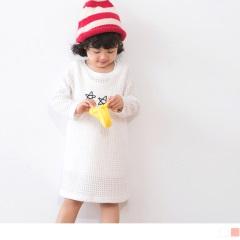 星星刺繡鏤空織紋長版上衣/洋裝
