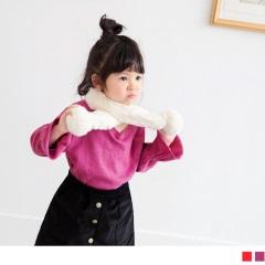 素色高含棉喇叭袖上衣