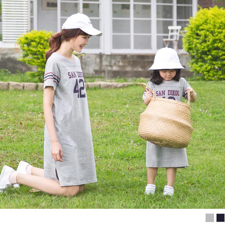 親子款~高含棉美式印花休閒洋裝
