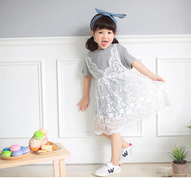 两件式纯色上衣X全蕾丝外衬长版上衣/洋装