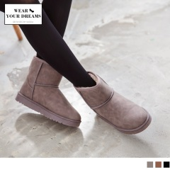 內層暖感絨毛平底雪靴