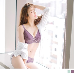 3/4罩蕾絲花邊輕薄內衣(36D-42D)