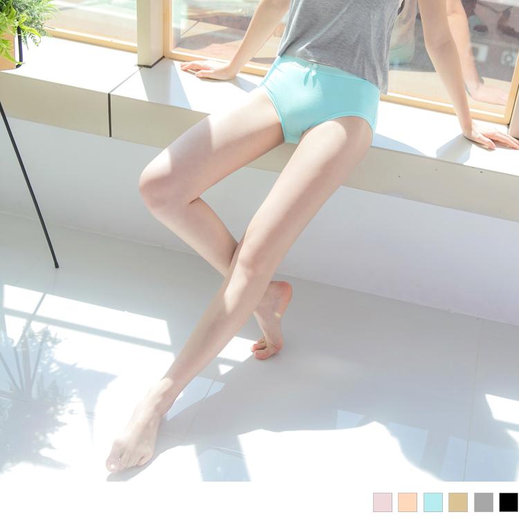 高腰蝴蝶结纯色安心生理裤