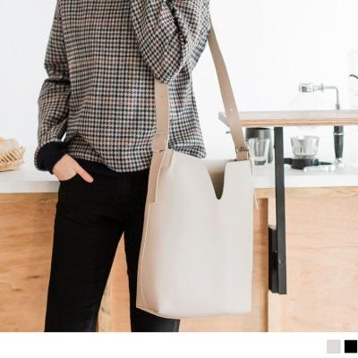 1027新品 素色簡約單背帶仿皮手提/肩背包
