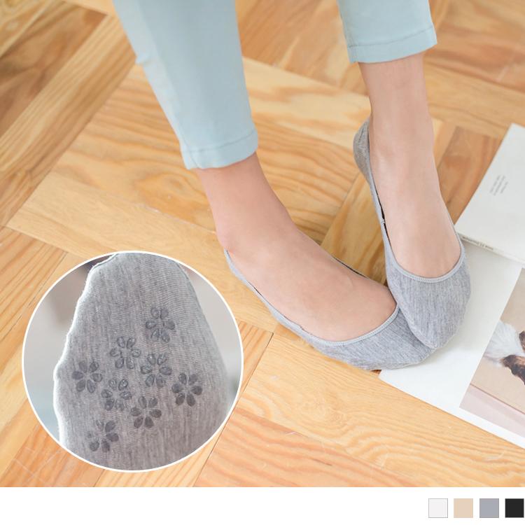 棉质防滑脱落小花底隐形袜
