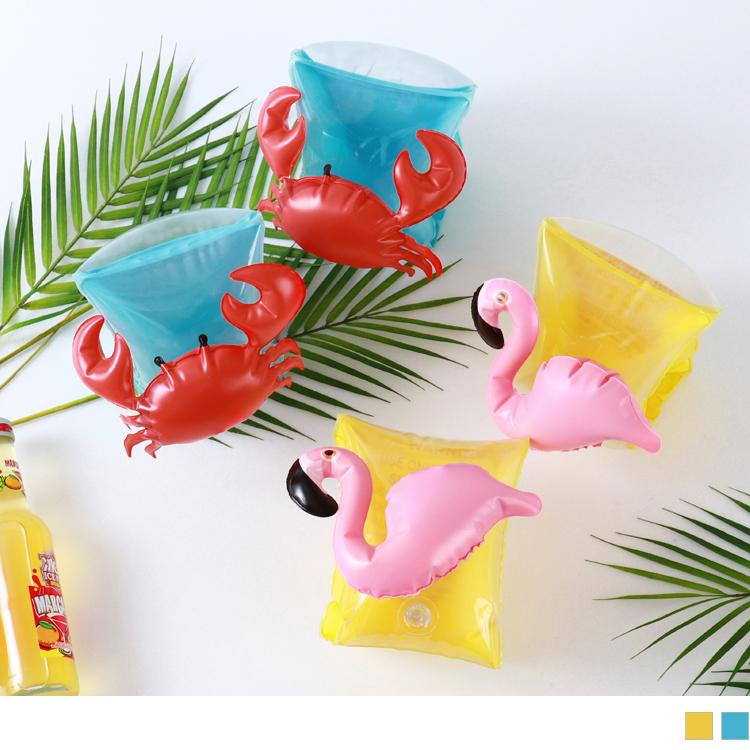 红鹤/螃蟹儿童俏皮可爱游泳袖套