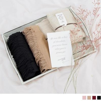 0930新品【特價款】輕薄抽鬚滾邊圍巾