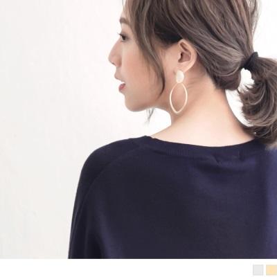 0929新品【特價款】橢圓鏤空金屬耳環