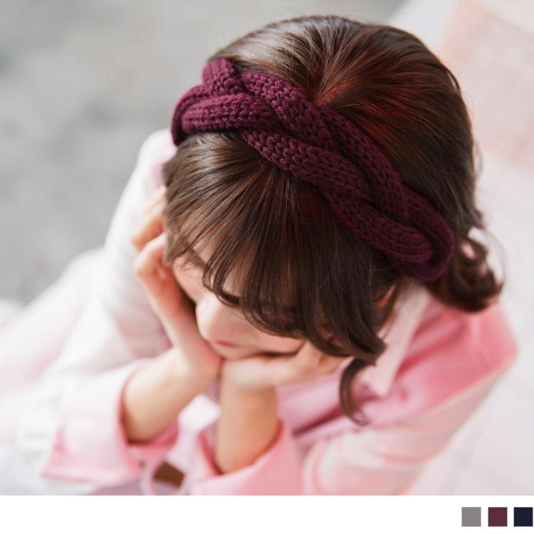 粗编织造型毛线发带
