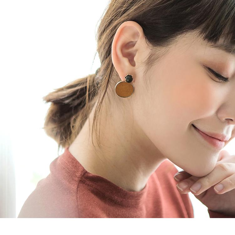 小圆环珠饰耳环