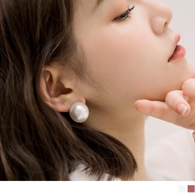 质感半珍珠耳环