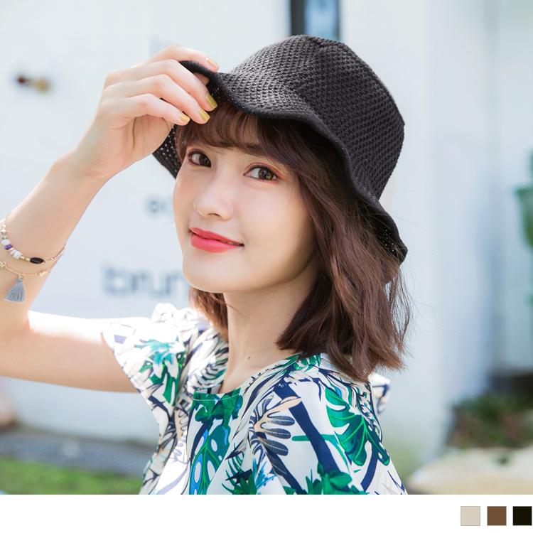 日系文青毛线渔夫帽