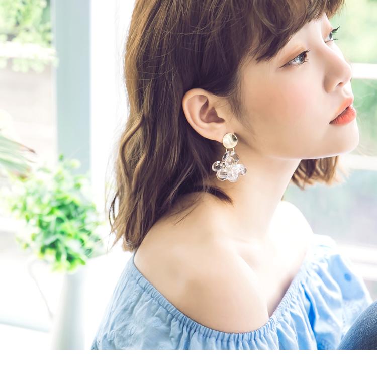 轻奢质感水芯片耳环