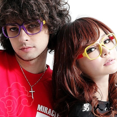 男人幫- 潮流達人最愛彩色大方框平框眼鏡 (Z0191)