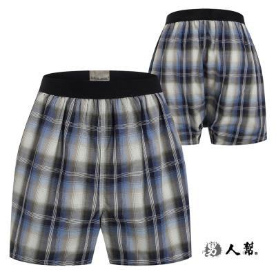 男人幫-舒適四角褲 灰藍線條 (Z0317)