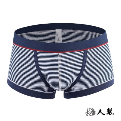 男人幫-透氣細條紋內褲性感平角男式四角褲(Z0356)