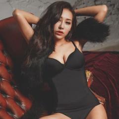 薄蕾絲-Hi Cool 小姿女孩-細肩帶無鋼圈塑身衣(黑)
