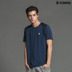 K-Swiss Solid Tee涼感短袖T恤-男-深藍