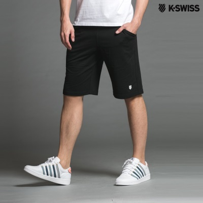 K-Swiss Sweat Shorts W/rf PT運動短褲-男-黑