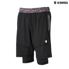 K-Swiss Short W/inner Brief運動短褲-男-深墨綠