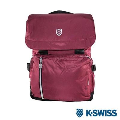 K-Swiss CS FC Backpack休閒後背包-酒紅