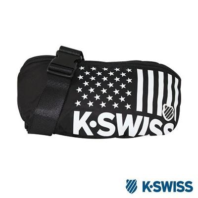 K-Swiss CS-Waist Bag休閒運動腰包-黑