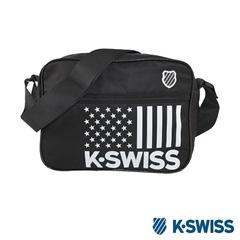 K-Swiss CS-Shoulder Bag休閒斜背包-黑