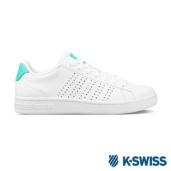 K-Swiss Court Casper休閒運動鞋-女-白/綠