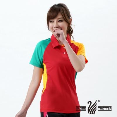 【開館慶9折】遊遍天下-MIT台灣製女款抗UV吸濕排汗機能POLO衫-紅