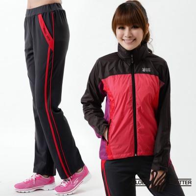 遊遍天下-MIT台灣製女款抗UV吸濕排汗休閒長褲-深灰