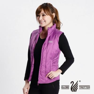 遊遍天下-女款JIS90%拒水羽絨防風防潑水背心-粉紫