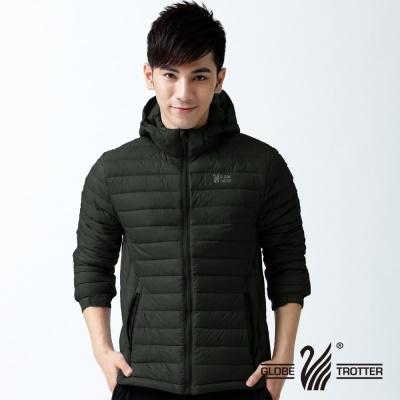 遊遍天下- 男款JIS90%羽絨輕暖修身防風防潑水羽絨外套-黑色