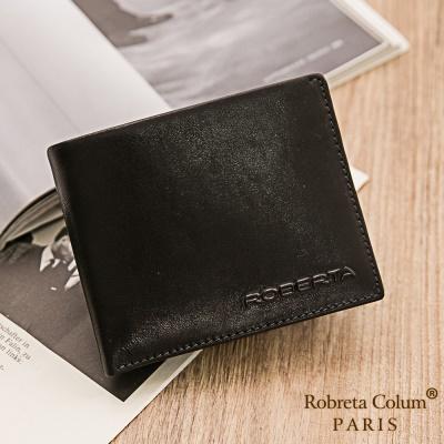 Roberta Colum-魅力無限牛皮款8卡1照左右翻短夾共2色