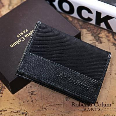 Roberta Colum-雅痞時尚系牛皮款隨身名片夾共2色