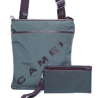 CAMEL-英倫極簡風超質感牛皮薄型直立式休閒側肩包