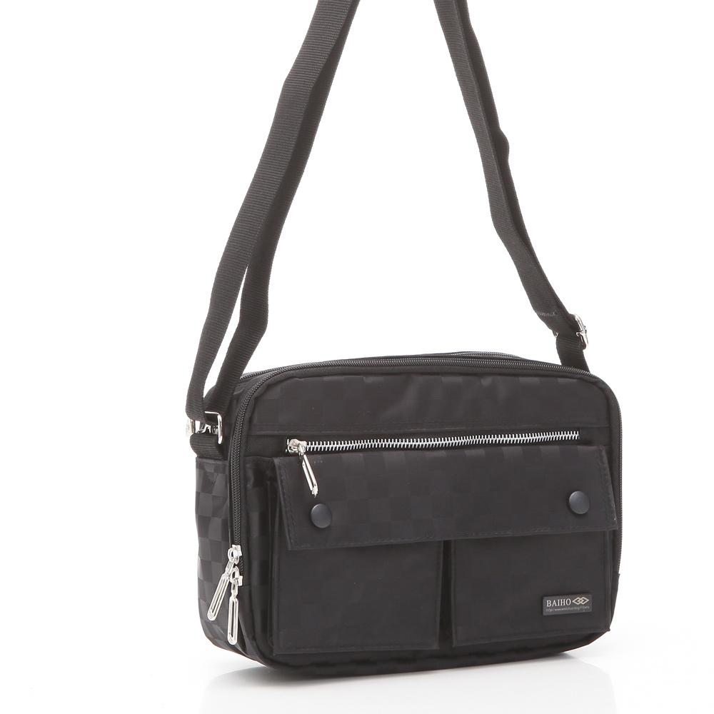 DF Queenin -日系时尚质感防水尼龙多夹层斜背包