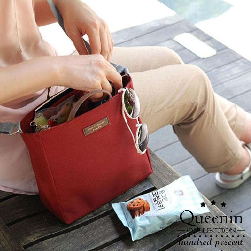 DF Queenin - 韩版包中包手提斜背收纳袋-共4色