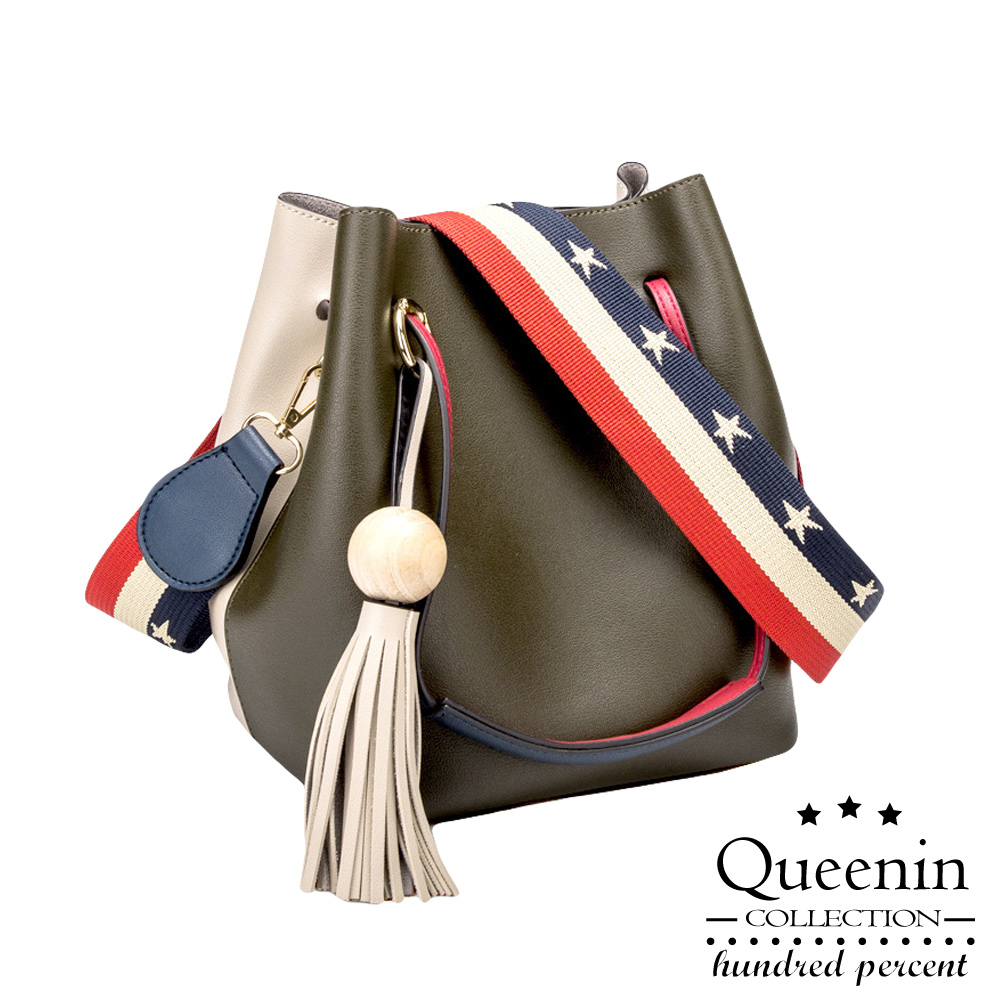 DF Queenin - 日杂人气款皮革3WAY水桶包单肩包-共2色