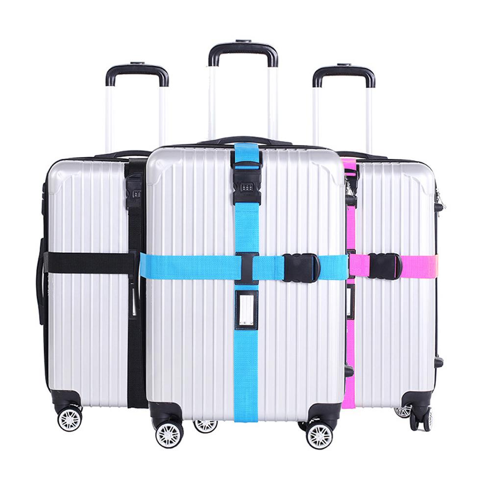 DF Queenin - 旅行箱专属行李箱绑带固定带十字型密码锁-随机色