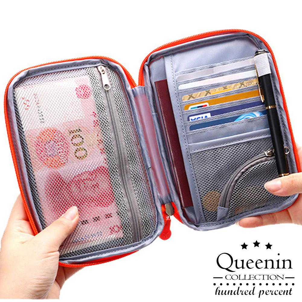 DF Queenin - 韩版旅行随身便利护照夹票卡包-共3色