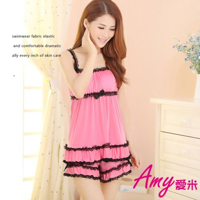 AMY愛米-甜美小女人居家涼感套裝(AD017)