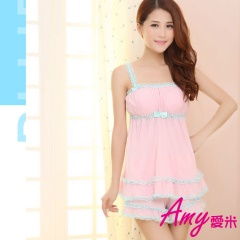 AMY愛米-甜美小女人居家涼感套裝(AD018)