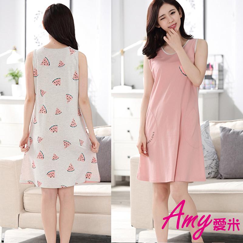 AMY爱米-西瓜造型休闲睡裙家居服(AD029)