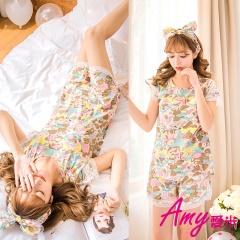 AMY愛米-可愛卡通圖案公主居家睡衣(AD041)