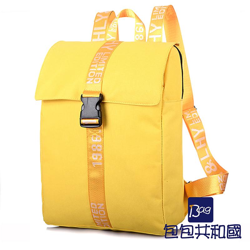 包包共和国-素面简单纯色帆布原宿风后背包(B9004)