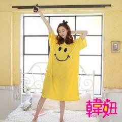 韓妞-韓國卡通笑臉連身睡衣居家服-KR042