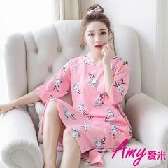 AMY愛米-加大小兔哈尼短袖睡衣/居家服(AD085)